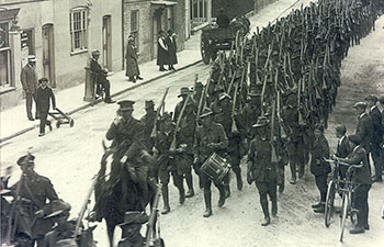 34th Battalion arrive in England